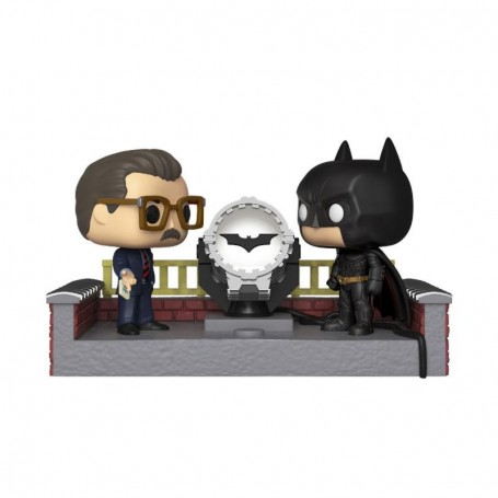 Batman's 80th POP! Movie Moment Vinyl Figura Batman with Light Up Bat Signal