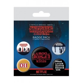copy of Stranger Things Pack 5 Chapas Upside Down