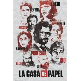 La casa de papel Poster Characters 61 x 91,5 cm