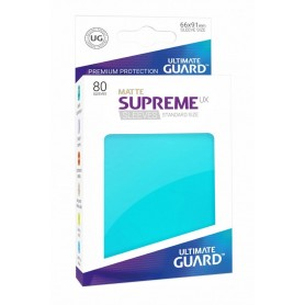 Ultimate Guard Supreme UX Sleeves Fundas de Cartas Tamaño Estándar Aguamarina Mate (80)
