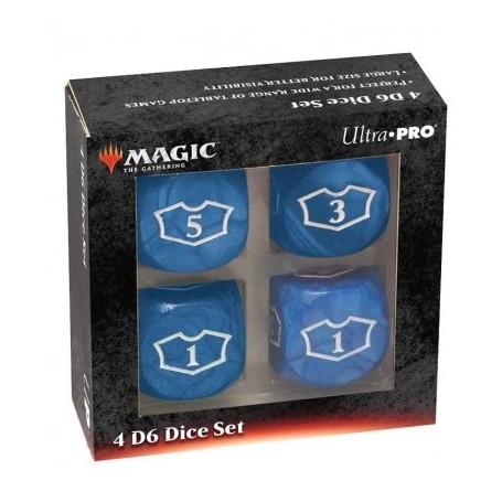 Dados de 6 caras Deluxe Loyalty 22mm para Magic the Gathering Azul