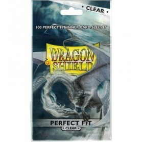 Fundas standard Dragon Shield Perfect Clear - Paquete de 100