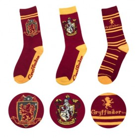 Pack 3 calcetines Gryffindor Harry Potter