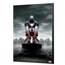 Marvel Avengers Collection Póster de madera Captain America 4 - Steve Epting 24 x 36 cm