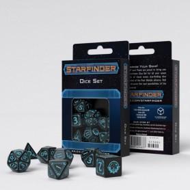 Starfinder Pack de Dados negro & azul (7)