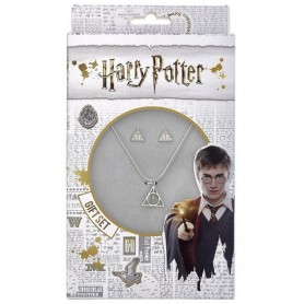 Set Colgante y Pendientes Harry Potter reliquias de la muerte