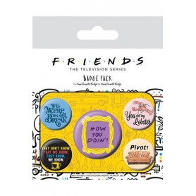 Friends Pack 5 Chapas Quotes