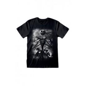 Pesadilla antes de Navidad Camiseta Stormy Skies Talla XL