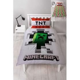 Minecraft Funda Nórdica Reversible Dynamite 135 x 200 cm / 48 x 74 cm