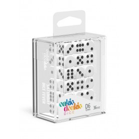 Oakie Doakie Dice Dados D6 12 mm Solid - Blanco (36)