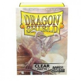 Fundas Standard Dragon Shield Matte Non Glare Clear - Paquete de 100