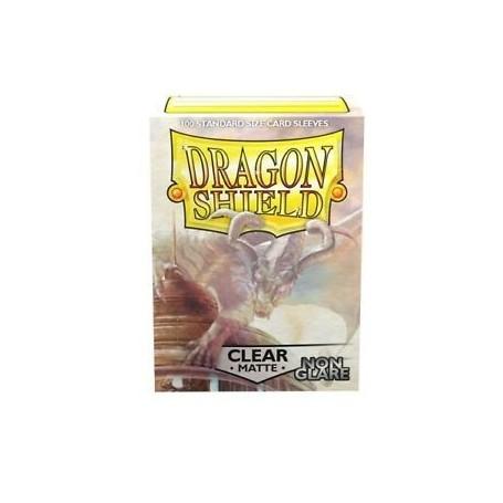 Fundas Standard Dragon Shield Matte Non Glare Clear - Paquete de 100