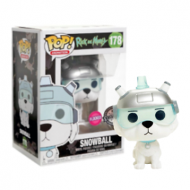 Funko Pop Snowball Rick And Morty Exclusive Flocked