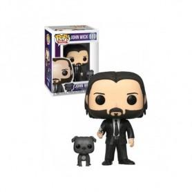 John Wick POP! Movies Vinyl Figura John Wick in Black Suit with Dog 580