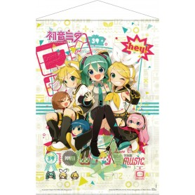 Vocaloid Póster Tela Hey! Piapro Characters 50 x 70 cm