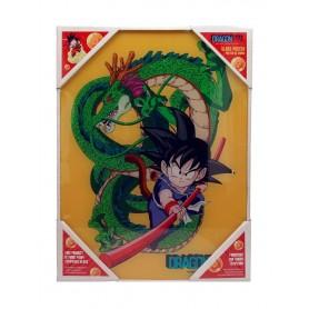 Dragon Ball Z Póster de Vidrio Kid Goku & Shenron 30 x 40 cm