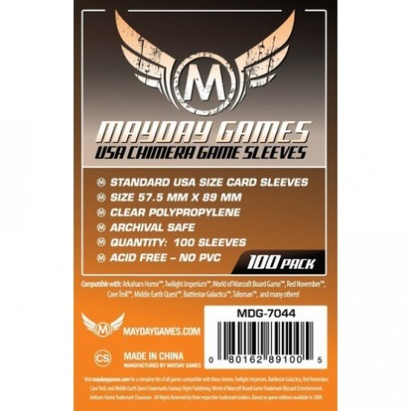 USA Chimera Game Sleeves 57.5 X 89 MM (100 pack) (Orange)