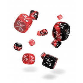 copy of Oakie Doakie Dice Dados D6 12 mm Marble/Gemidice Positive & Negative - Blanco (14)