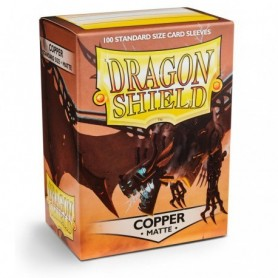 FUNDAS STANDARD DRAGON SHIELD MATTE COLOR COPPER - PAQUETE DE 100