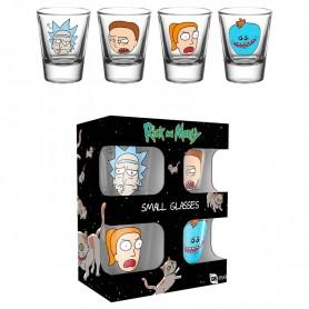 Set 4 vasos chupito Faces Rick & Morty