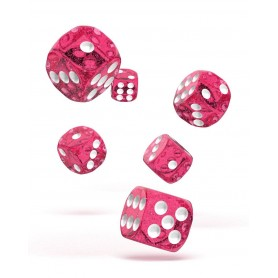 Oakie Doakie Dice Dados D6 16 mm Speckled - Rosa (12)