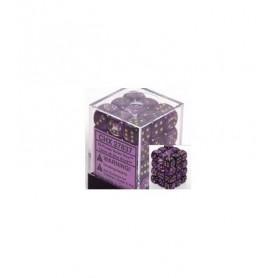 Dados de 6 caras Vortex Chessex. Púrpura / Oro D6 - Bloque de 36