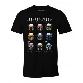 Star Wars The Mandalorian Camiseta Bounty Hunter Helmets