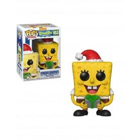 Bob Esponja POP! Vinyl Figura SpongeBob Xmas 9 cm