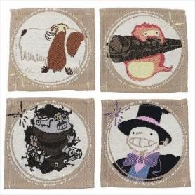 El castillo ambulante Pack de 4 Posavasos Characters