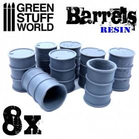 8x Barriles en Resina