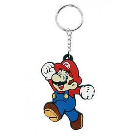 Super Mario Bros. Llavero caucho Mario 7 cm